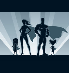 superhero family 2 girls vector image