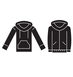 sweatshirt hoodie black concept icon vector image