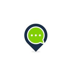 Talk point logo icon design vector