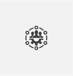 Team skills base icon simple sign vector