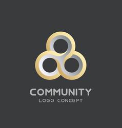 teamwork logo social network logo design vector image