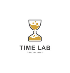 time lab logo template vector image