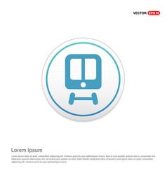 train icon - white circle button vector image