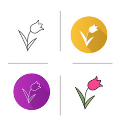 Tulip icon vector