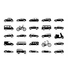 Urban auto glyph icons vector