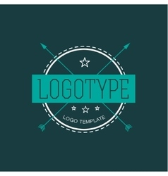 Vintage Hipster Design Element for Logo vector image