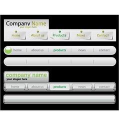 Web navigation templates vector