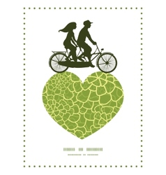 abstract green natural texture couple on vector image