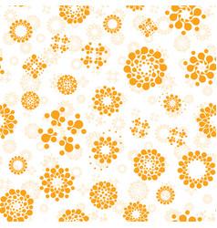 abstract sunny seamless circles design pattern vector image
