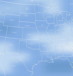Creative map of the United States of America vector image vector image