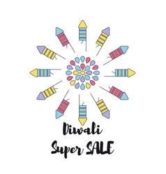 Creative poster sale happy diwali vector