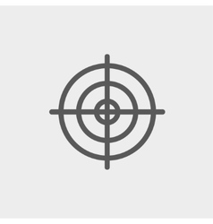 Crosshair target thin line icon vector image