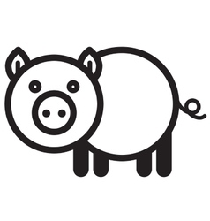 Cute animal pig - vector image
