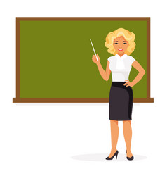 female teacher vector image vector image