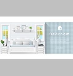 Interior design Modern bedroom background 9 vector image vector image