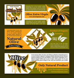 olive oil extra virgin product banners set vector image vector image