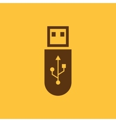 The usb icon Transfer and connection data usb vector image