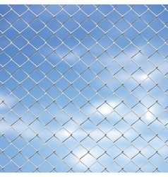 Wire Fence Against Sky2 vector image vector image