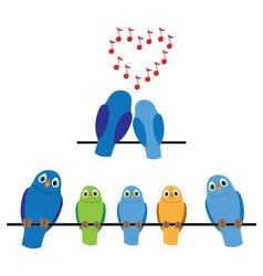 birds adults and children vector image vector image