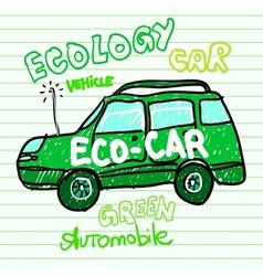 Green ecology car vector image vector image