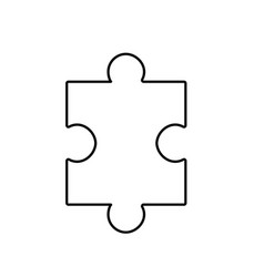 line puzzle element to game and teamwork vector image vector image