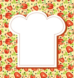 menu hat background vector image vector image