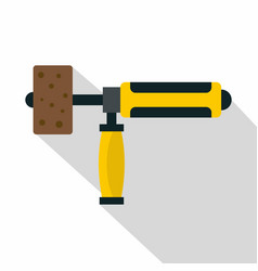 precision grinding machine icon flat style vector image vector image