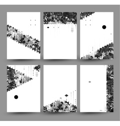 set of six backgrounds created from simple vector image vector image