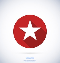 Star icon flat design with long shadow vector image vector image