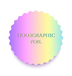 colorful holographic foil vector image