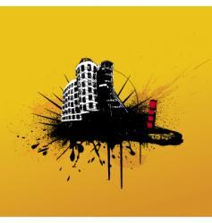 grunge buildings vector image