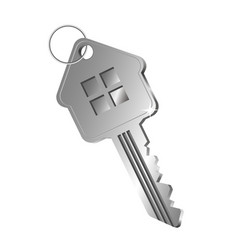key in the form of a house vector image vector image