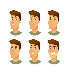 Male facial expressions - modern business vector