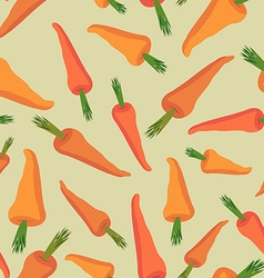 Carrot seamless pattern Vegetable background vector image vector image
