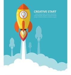 creative start vector image vector image