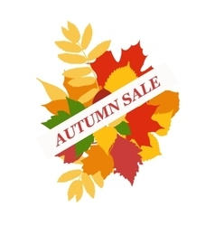 foliage sale banner vector image vector image