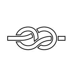 knot black icon vector image