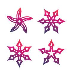 ninja throwing stars shurikens vector image