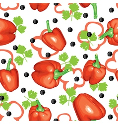 peppers and parsley vector image vector image