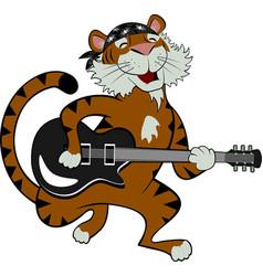 rock star tiger vector image vector image