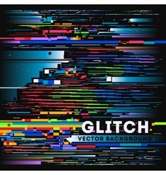 tv glitch digital background vector image