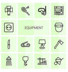 14 equipment icons vector
