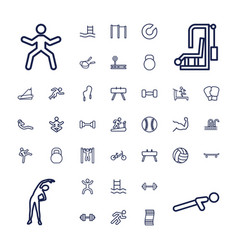 37 exercise icons vector