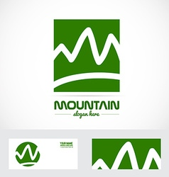 Abstract mountain logo vector image