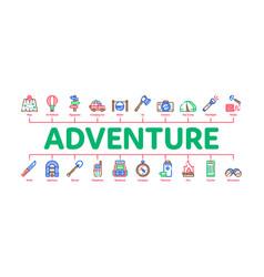 Adventure minimal infographic banner vector