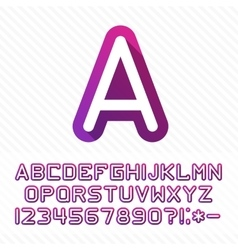Alphabet with shadow vector