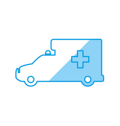ambulance emergency vehicle vector image