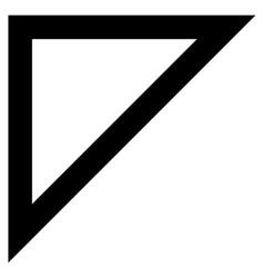 Arrowhead Left Up Contour Icon vector