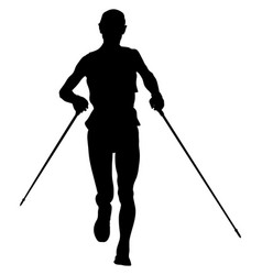 Athlete runner running vector