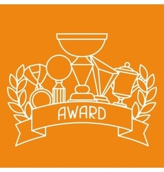 Awards and trophy sport or business background in vector